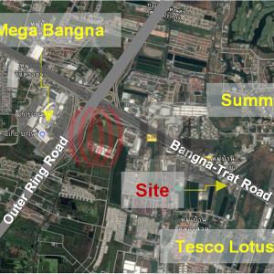 Land on Bangna-Trat KM.10 road Close to MEGA Bangna
