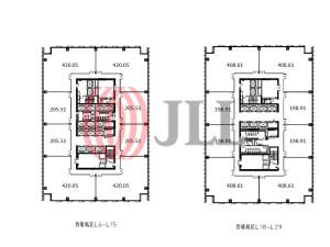 星荟中心一座_办公室租赁-CHN-P-000A46-Landmark-Center-Tower-One_2173_20170916_005
